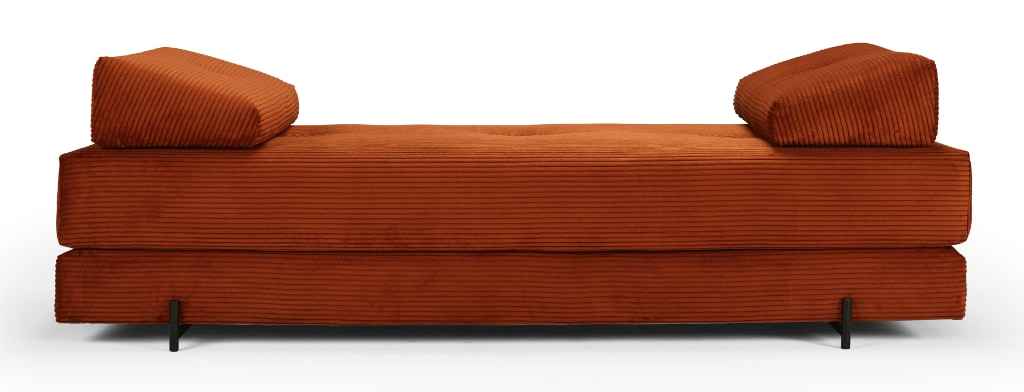 Sigmund dagbädd, klädd i tyg 595 Corduroy Burnt Orange